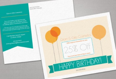 Send Poscards to communicate special birthday deals