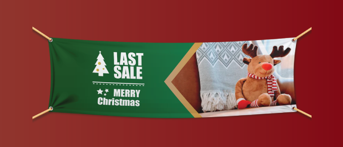 Outdoor Banner for Christmas