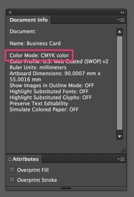 Open Document Info to verify if artwork is set to CMYK